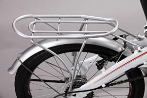 back rear fenders of the folding bike.